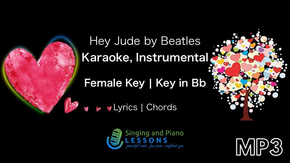 Hey Jude Beatles - Karaoke, Instrumental in Female Key – Audio MP3