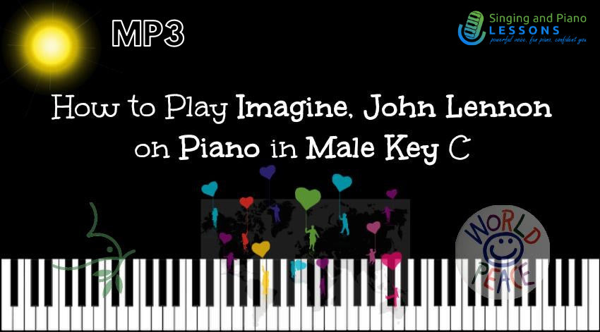 How to Play Imagine, John Lennon on Piano in Male Key C – Audio MP3