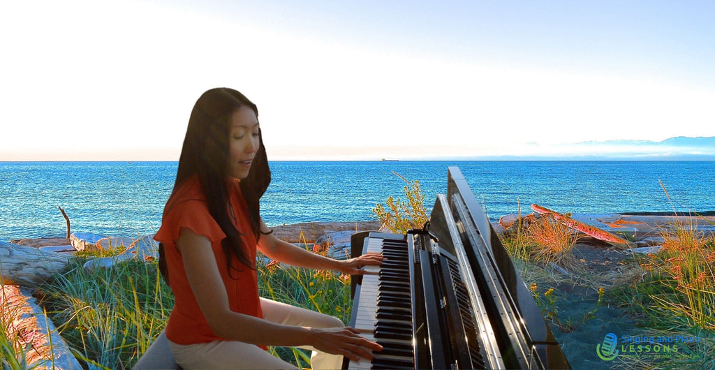55% OFF Your very 1st Initial ONLINE Singing Piano Lesson with Sunghee