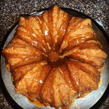 Load image into Gallery viewer, Physician In The Kitchen Mr. Wonderful's Peach Cobbler Pound Cake (vegan, gluten-free)