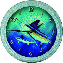 "Clock - Guy Harvey Marlin 15"" - GrayGoose Products Limited"