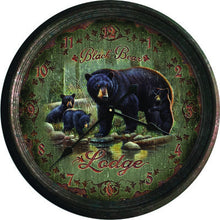 "Clock - Black Bear Lodge 15"" - GrayGoose Products Limited"