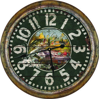 Clock - Distressed Fishing 26