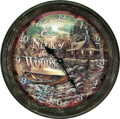 Clock - Rusted Neck of Woods 15""
