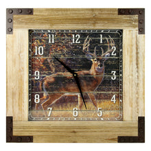 "Clock 24"" Wooden Frame - Deer - GrayGoose Products Limited"