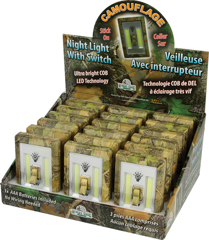 Camo COB Light Switch 18 Piece Display - GrayGoose Products Limited