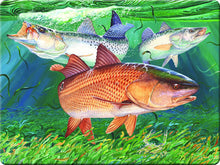 Glass Cutting Board - Guy Harvey Redfish
