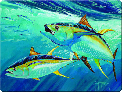 Glass Cutting Board - Guy Harvey Tuna
