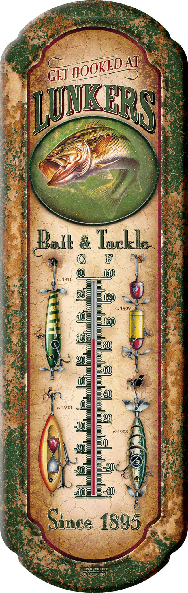 Lunker's Bait & Tackle Thermometer - GrayGoose Products Limited