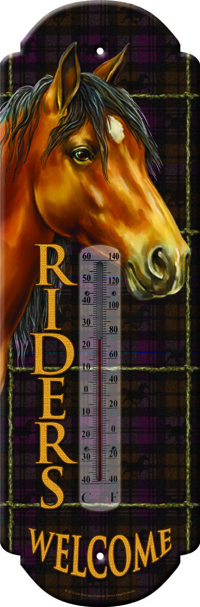 Riders Welcome Thermometer