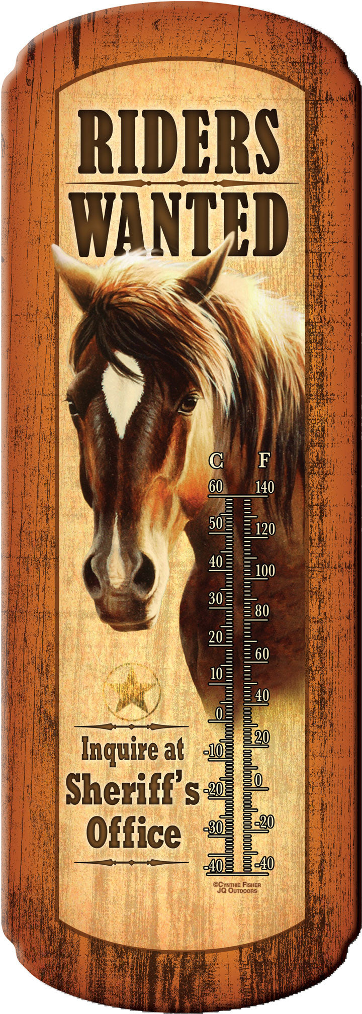 Riders Wanted Thermometer - GrayGoose Products Limited
