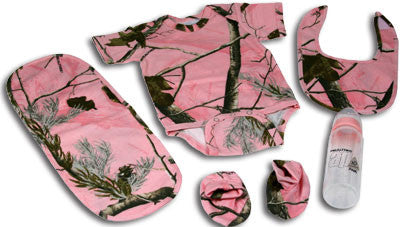 Realtree AP HD Pink Camo 5 Piece Baby Set - GrayGoose Products Limited