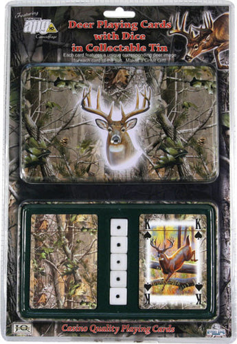 Mossy Oak Deer Cards & Dice Tin - GrayGoose Products Limited