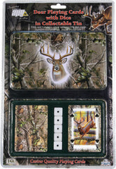 Mossy Oak Deer Cards & Dice Tin