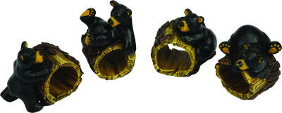 4 Pc. Napkin Holder - Bears/Tree - GrayGoose Products Limited