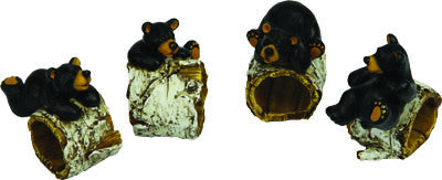 4 Pc. Napkin Holder - Bear/Birch