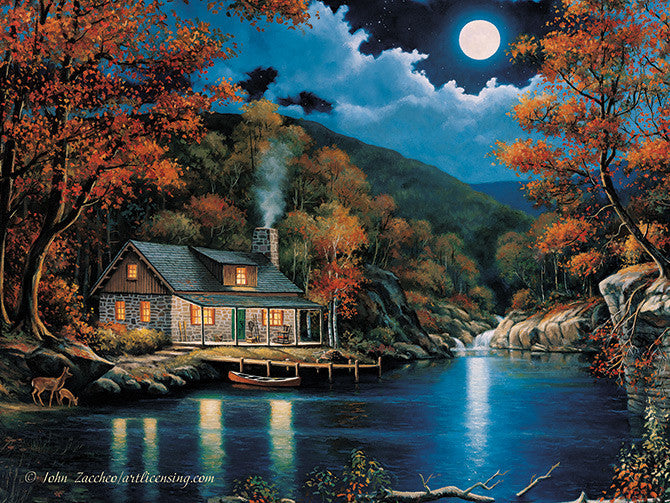 Led Canvas Art Cabin By Lake Graygoose Products Limited