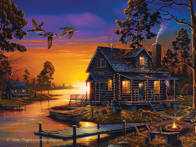 LED Canvas Art - Cozy Retreat - GrayGoose Products Limited