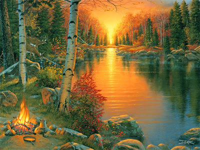 LED Canvas Art - Campfire - GrayGoose Products Limited