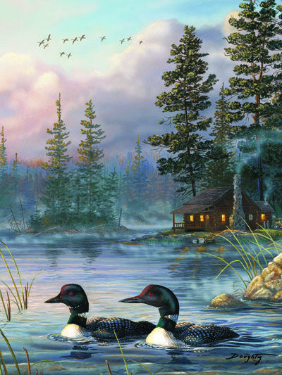 LED Canvas Art - Autumn Air Loons - GrayGoose Products Limited