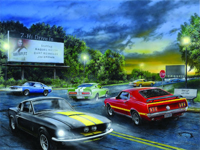 LED Canvas Art - Friday Night Cars - GrayGoose Products Limited
