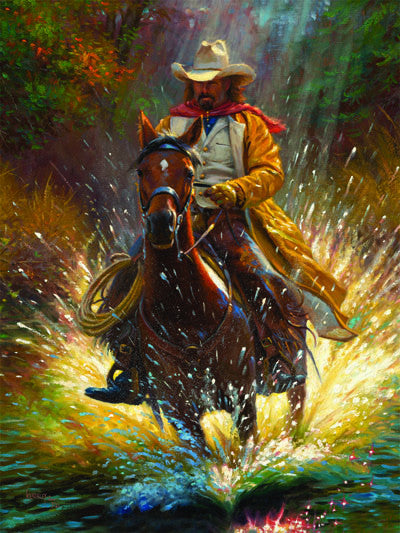 LED Canvas Art - Cowboy - GrayGoose Products Limited