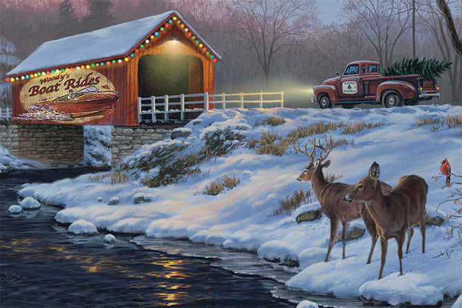 LED Canvas Art - Holiday Traditions