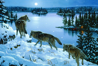 LED Canvas Art -Nite Wolves - GrayGoose Products Limited