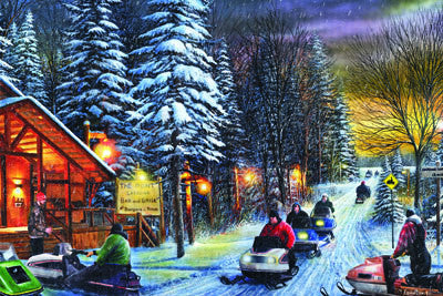 LED Canvas Art - Snowmobiles - GrayGoose Products Limited