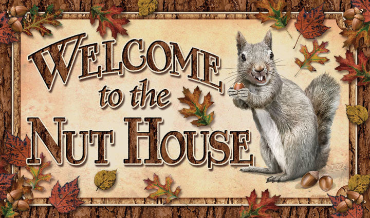 Welcome to the Nut House Door Mat - GrayGoose Products Limited