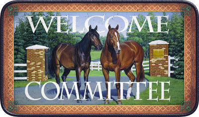 Welcome Committee Door Mat - GrayGoose Products Limited