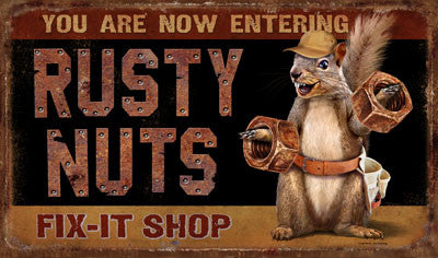 Rusty Nuts Door Mat