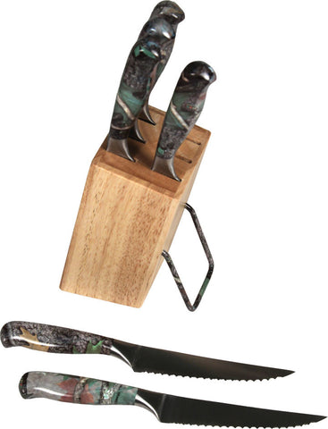 6 Piece Camo Steak Knife Set