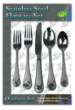 20 Piece Stainless Steel Outdoor Flatware Set - GrayGoose Products Limited