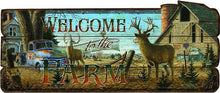 Welcome To The Farm Wood Sign