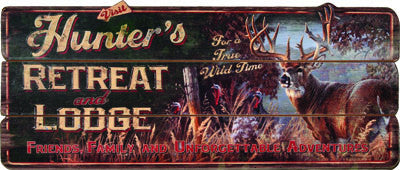 Hunters Retreat Lodge Sign - GrayGoose Products Limited