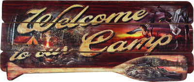 Welcome To Our Camp Wood Sign