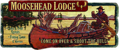 Moosehead Lodge Wood Sign - GrayGoose Products Limited