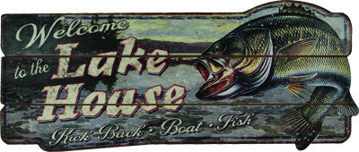 Welcome To The Lake Wood Sign - GrayGoose Products Limited