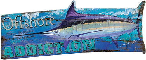 Guy Harvey Marlin Wood Sign - GrayGoose Products Limited