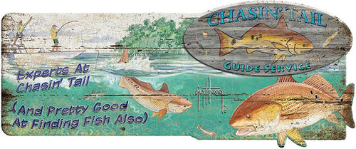 Guy Harvey Redfish Wood Sign - GrayGoose Products Limited