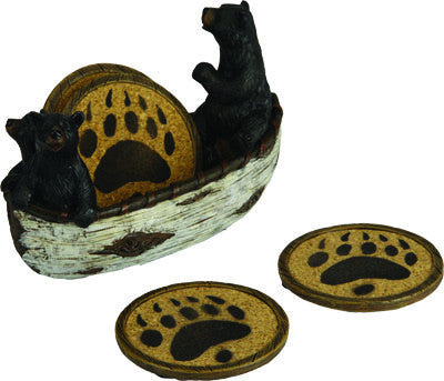 Bears In Boat Coaster Set - GrayGoose Products Limited