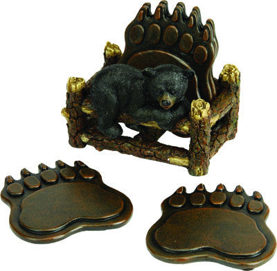 Bear Paw Coaster Set - GrayGoose Products Limited