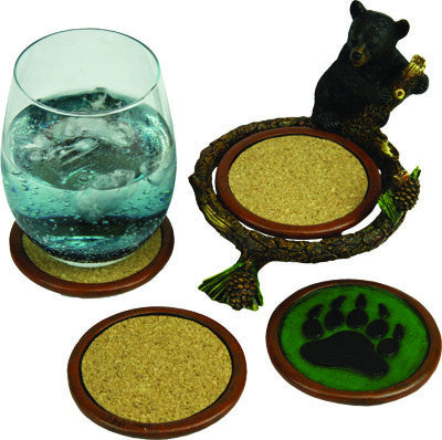 Baby Bear Pinetree Coaster Set - GrayGoose Products Limited