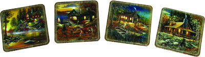 Cabins Coaster 4 Piece Set