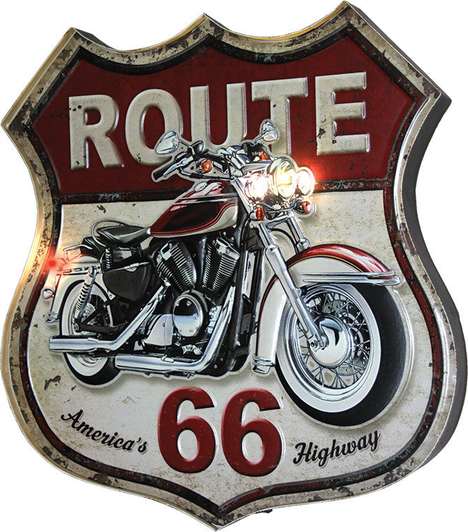 LED Metal Bar Sign - Route 66 - GrayGoose Products Limited