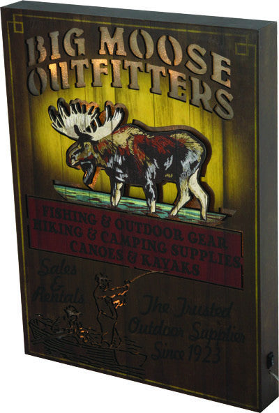 LED Wall Sign - Big Moose Outfitter