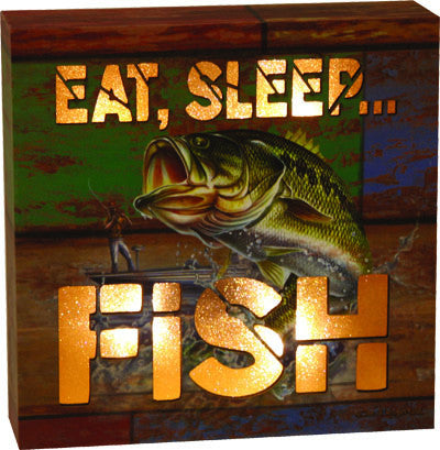 LED Box -Eat Sleep Fish