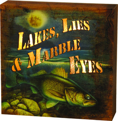 LED Box - Lake Lies Marble