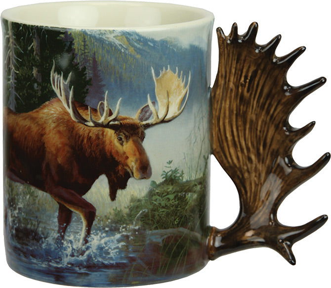 Coffee Mug - Moose Scene 3D 15oz - GrayGoose Products Limited
